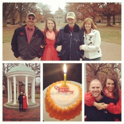 My family came to celebrate my 25th birthday - Pawpaw is the only other Tarheel in my family and never leaves Stanly County, so it was very special